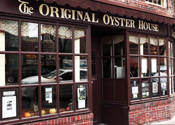 Pictures Greeting Card featuring the photograph Original Oyster House by John Rizzuto