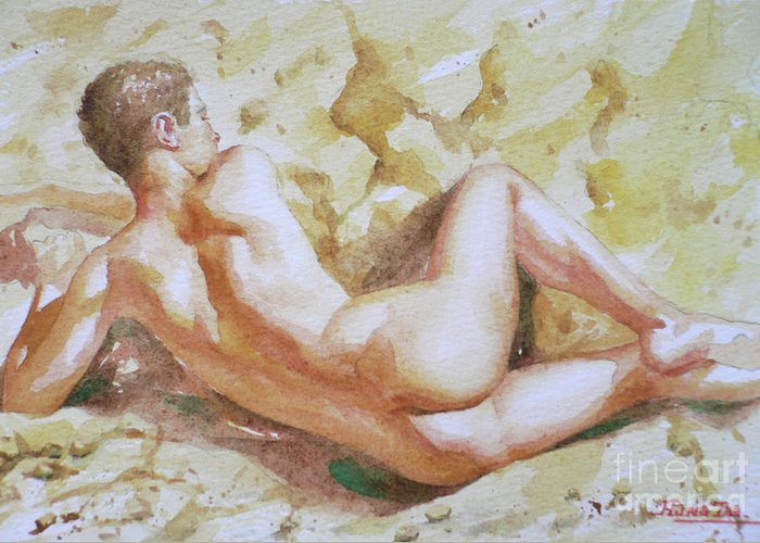 Male on male nude action
