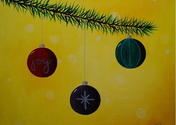 Ornament Greeting Card featuring the painting Ornaments by Emily Page