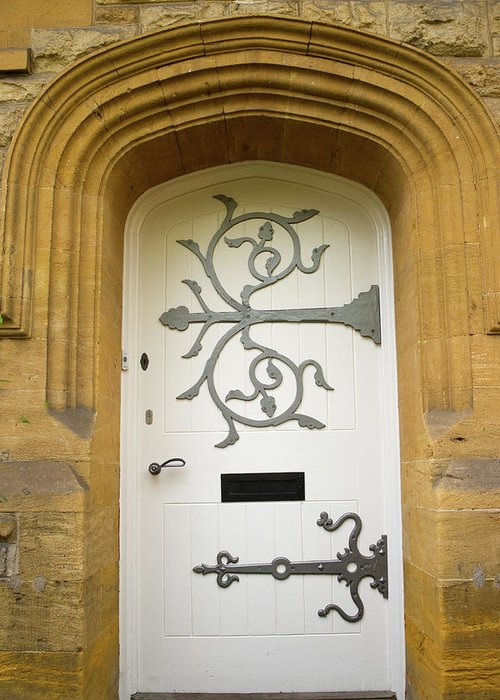 Door Greeting Card featuring the photograph Ornate Door 1 by Douglas Barnett