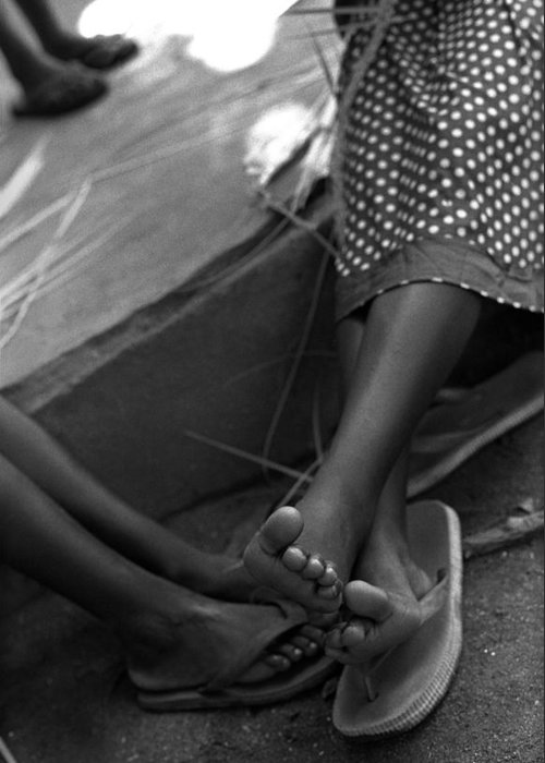 Rwanda Greeting Card featuring the photograph Orphan Feet by Marcus Best