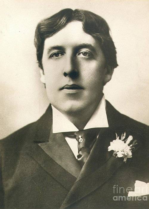 19th Century Greeting Card featuring the photograph Oscar Wilde by Granger