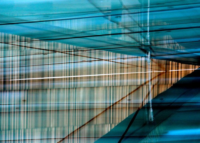 Abstract Greeting Card featuring the photograph Oslo Opera Norway 147 by Per Lidvall
