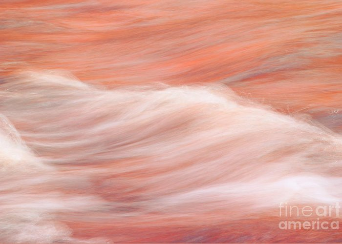 water Abstract Greeting Card featuring the photograph Osomone by Aimelle