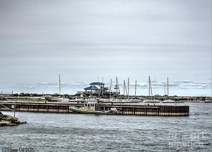 Lake Ontario Greeting Card featuring the photograph Oswego, NY Harbor I by Rennae Christman