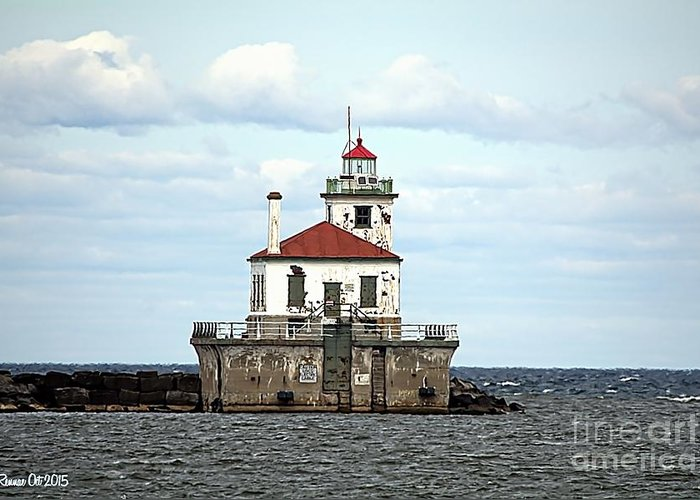 Lake Ontario Greeting Card featuring the photograph Oswego NY Lighthouse by Rennae Christman
