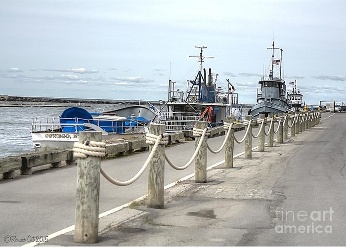 Lake Ontario Greeting Card featuring the photograph Oswego NY Maritime District by Rennae Christman