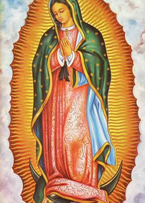 Our Lady Of Guadalupe Greeting Card For Sale By Munir Alawi