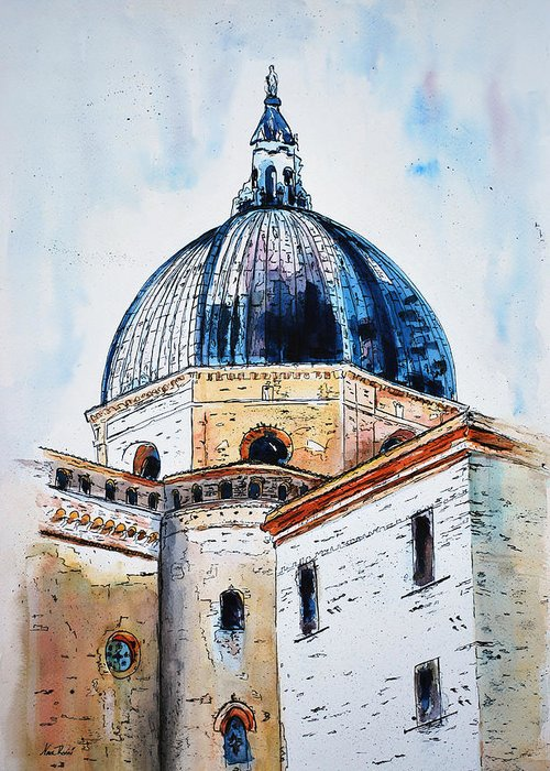 Churches Greeting Card featuring the painting Our Lady Of Loreto I by Neva Rossi