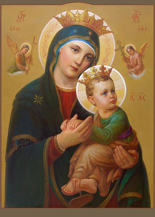 Holy Mary Greeting Cards