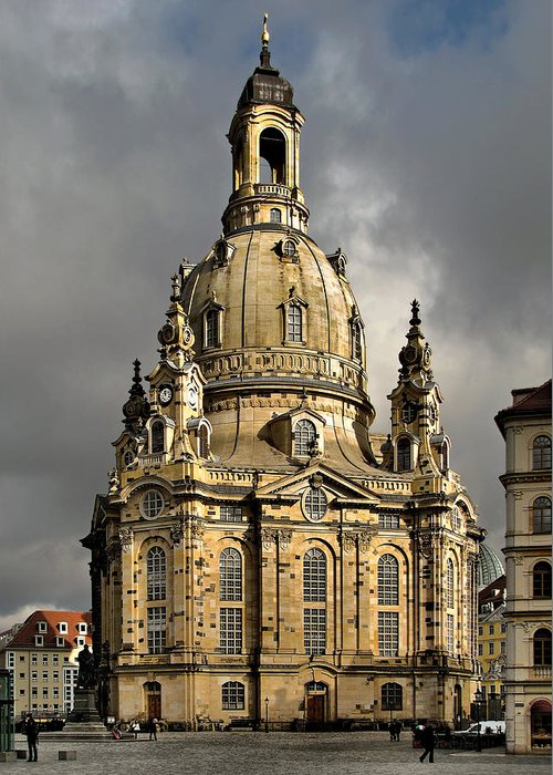 Lutheran Greeting Card featuring the photograph Our Lady's Church Of Dresden by Christine Till