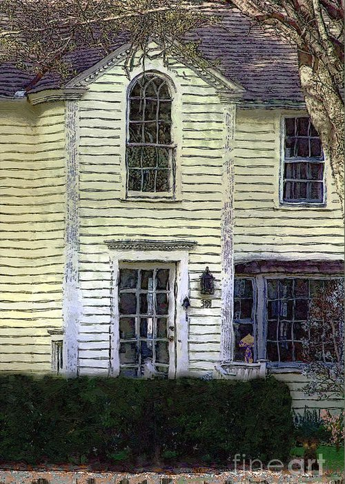 House Greeting Card featuring the painting Our Town's Witch House by RC DeWinter