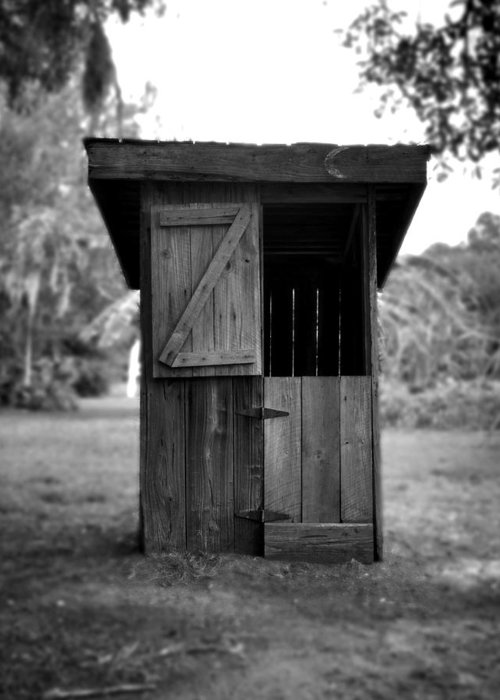 Antique Outhouse Greeting Cards