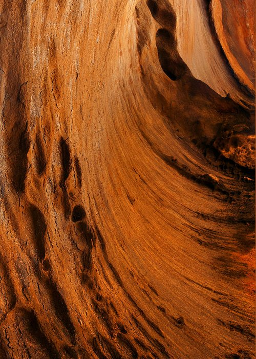 The Wonderful Lines And Colors Of An Outback Cavern Under Afternoon Light Greeting Card featuring the photograph Outback Cavern by Mike Dawson