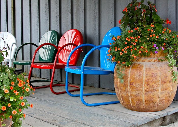 Chair Greeting Card featuring the photograph Outdoor Living by Karon Melillo DeVega