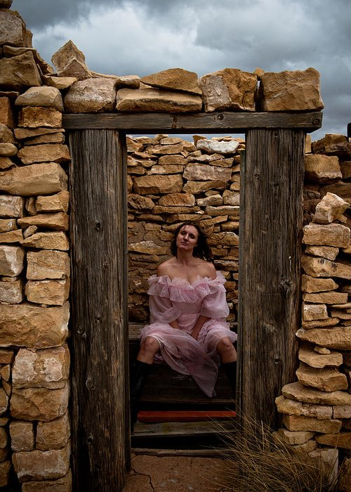 Woman Greeting Card featuring the photograph Outdoor Outhouse by Scott Sawyer