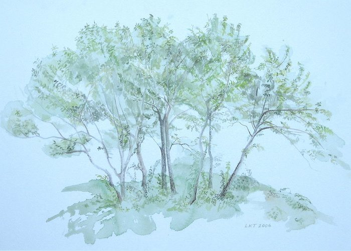 Trees Greeting Card featuring the painting Outer Banks by Leah Tomaino