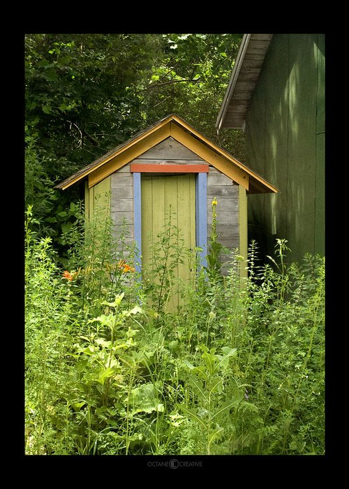 Outhouse Greeting Card featuring the photograph Outhouse by Tim Nyberg
