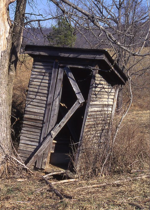 Greeting Card featuring the photograph Outhouse3 by Curtis J Neeley Jr