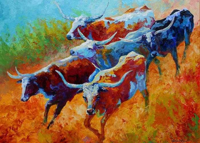 Longhorns Greeting Cards