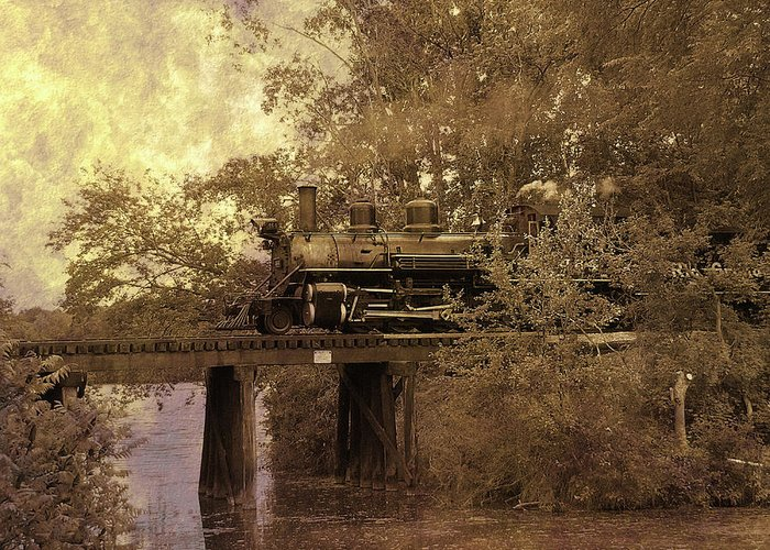 Hovind Greeting Card featuring the photograph Over The River by Scott Hovind