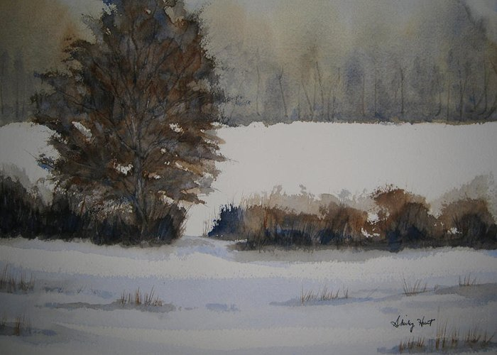 Landscape Greeting Card featuring the painting Overcast by Shirley Braithwaite Hunt