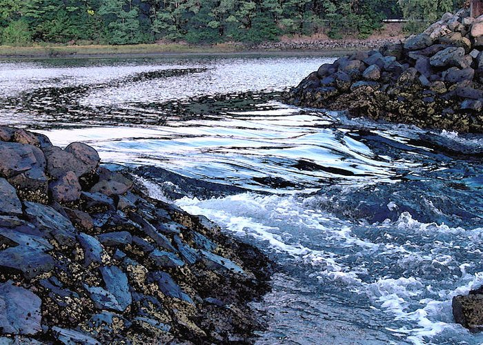 Water Greeting Card featuring the photograph Overflow by Suzanne Gaff