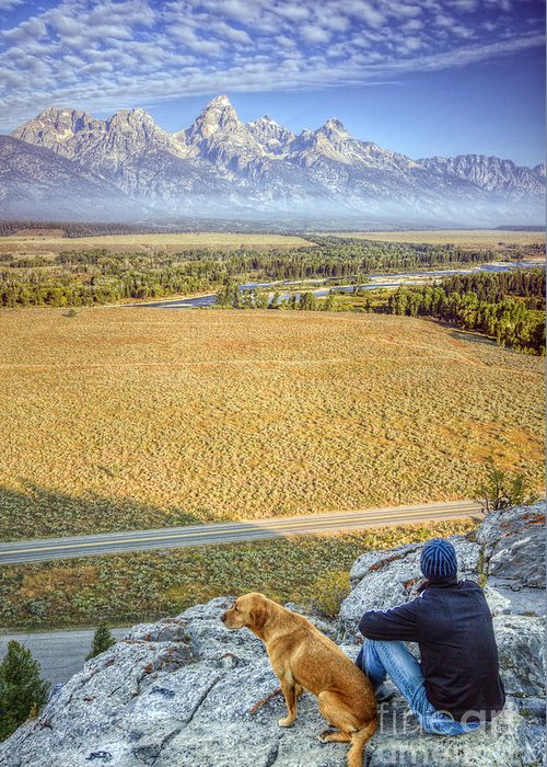 Jackson Hole Greeting Card featuring the photograph Overlooking The Grand Tetons Jackson Hole by Dustin K Ryan