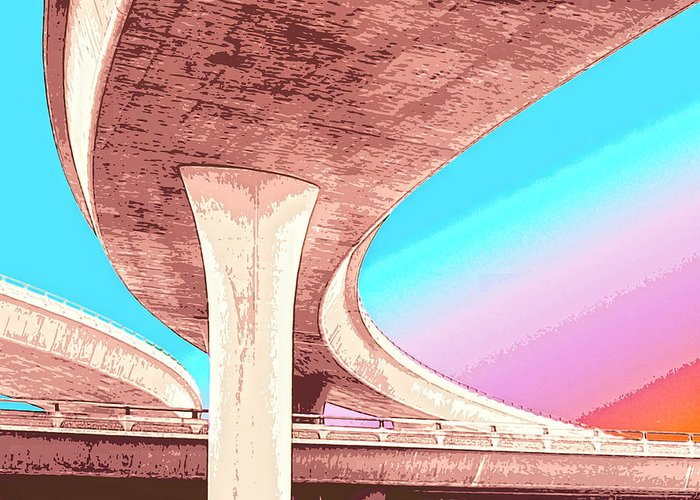 Overpass Greeting Card featuring the mixed media Overpass Two by Dominic Piperata
