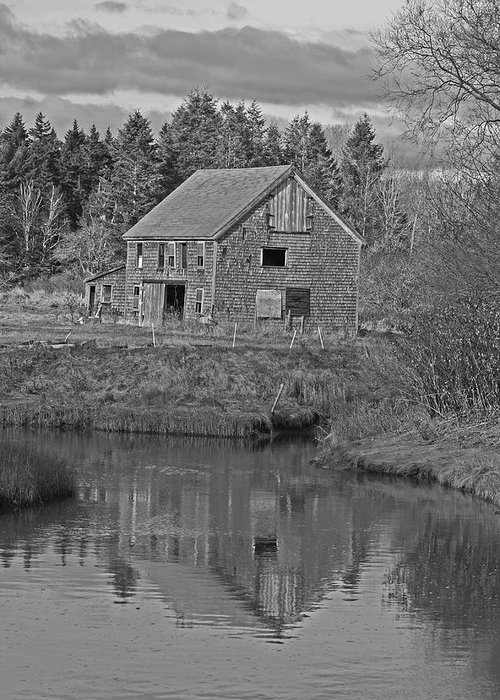 Landscape Greeting Card featuring the photograph Owls Head Barn by Doug Mills