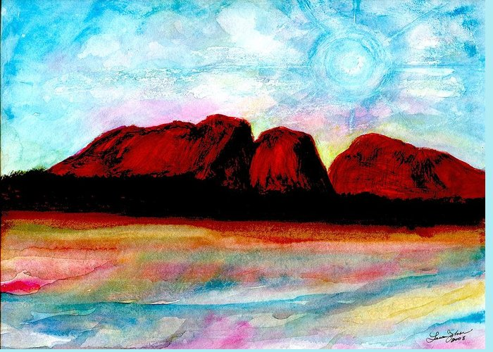 Dreamscape Greeting Card featuring the painting Ozzzzzzzzzz by Laura Johnson