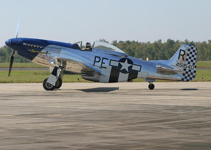 P-51 Greeting Card featuring the photograph P-51 Mustang by Donald Tusa