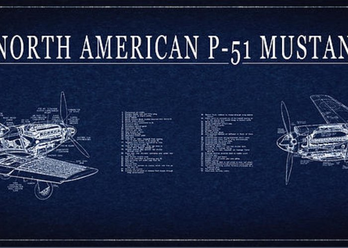 P 51 mustang fighter blueprint greeting card for sale by daniel p 51 mustang greeting card featuring the digital art p 51 mustang fighter blueprint by malvernweather Gallery