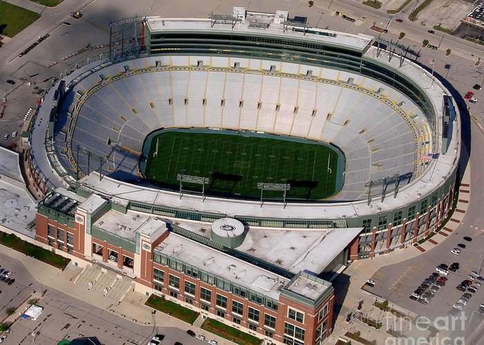 Lambeau Field Greeting Card featuring the photograph Packers Lambeau Field by Bill Lang