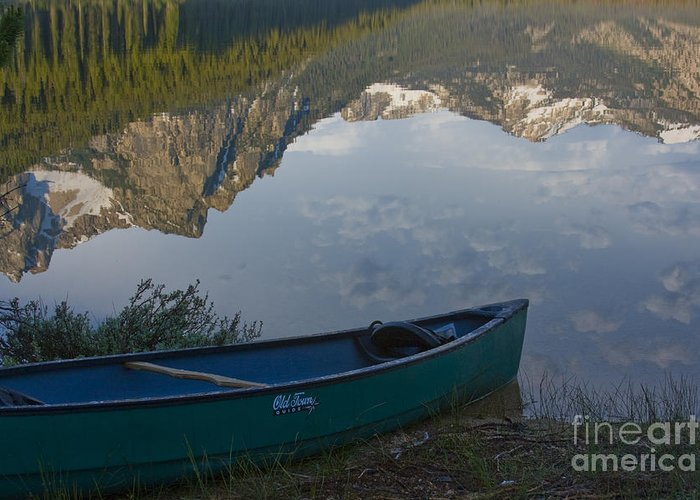 Canoe Greeting Card featuring the photograph Paddle To The Mountains by Idaho Scenic Images Linda Lantzy