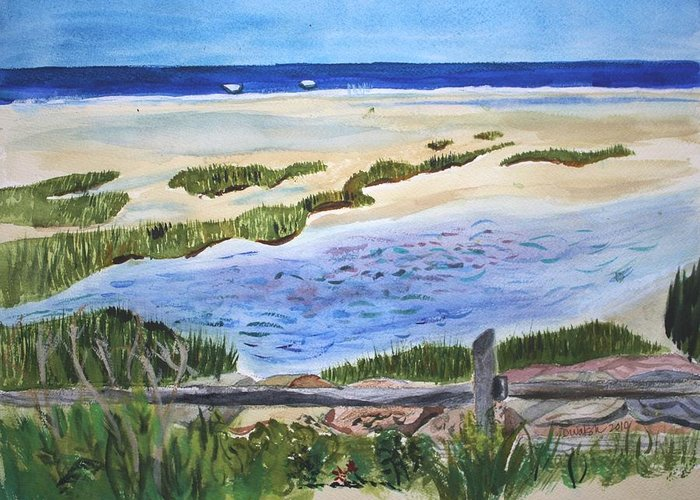 Paines Creek Greeting Card featuring the painting Paines Creek by Donna Walsh