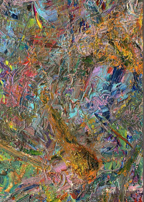 Abstract Greeting Card featuring the painting Paint Number 26 by James W Johnson