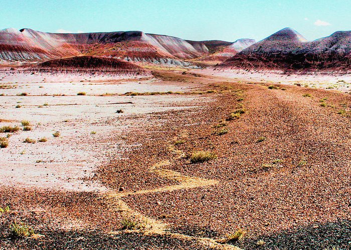 Photography Greeting Card featuring the photograph Painted Desert 0319 by Sharon Broucek