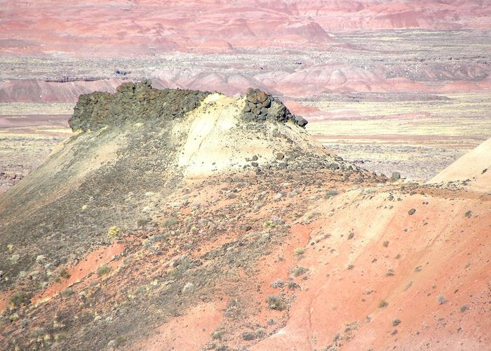 Photograph On Paper Greeting Card featuring the photograph Painted Desert 5 by Patricia Bigelow