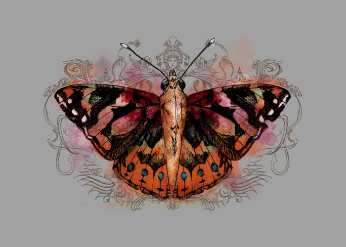 Painted Lady Butterflies Greeting Cards