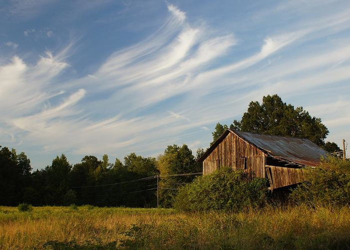 Barn Greeting Card featuring the photograph Painted Sky Barn by Benanne Stiens