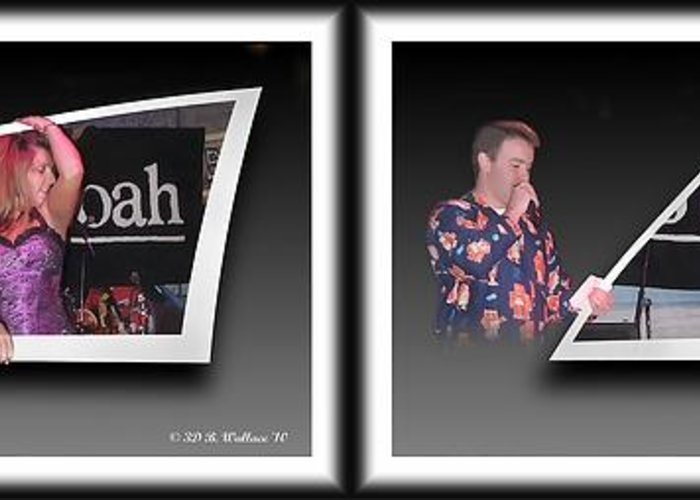 3d Greeting Card featuring the photograph Pajama Night - Gently Cross Your Eyes And Focus On The Middle Image by Brian Wallace