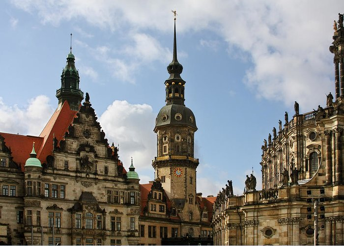 Germany Greeting Card featuring the photograph Palace Square In Dresden by Christine Till