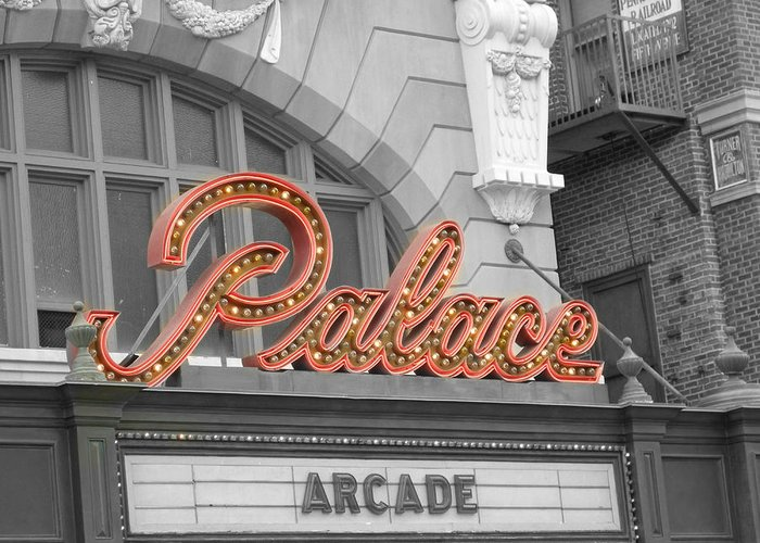 Photo Greeting Card featuring the photograph Palace Theatre by Audrey Venute