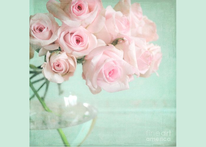 Pink Greeting Card featuring the photograph Pale Pink Roses by Lyn Randle