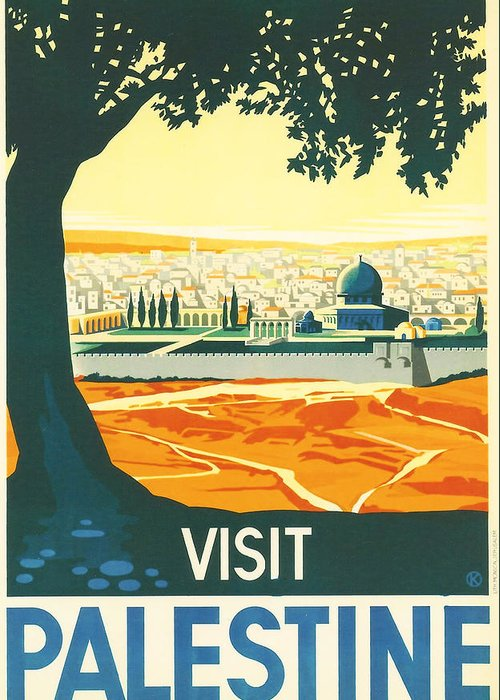 Ancient Greeting Card featuring the digital art Palestine by Georgia Fowler