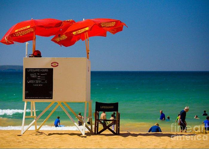 Palm Beach Sun Sea Sky Beach Umbrellas Greeting Card featuring the photograph Palm Beach Dreaming by Sheila Smart Fine Art Photography