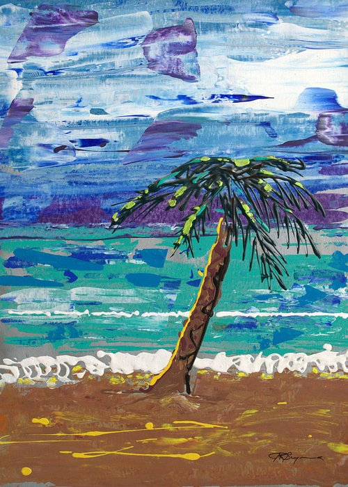 Impressionist Painting Greeting Card featuring the painting Palm Beach by J R Seymour