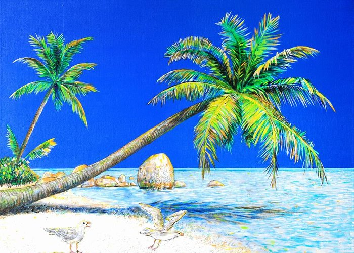 Landscape Greeting Card featuring the painting Palm Beach Number Five by Daniel House