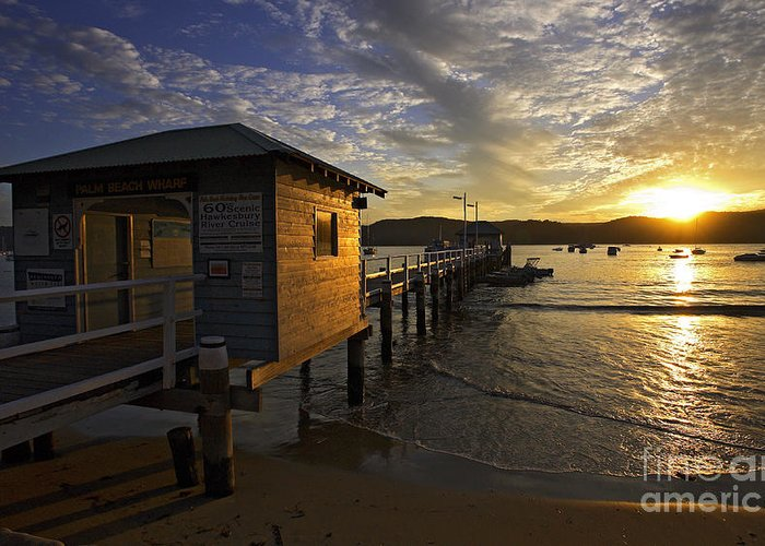 Palm Beach Sydney Australia Sunset Water Pittwater Greeting Card featuring the photograph Palm Beach Sunset by Sheila Smart Fine Art Photography